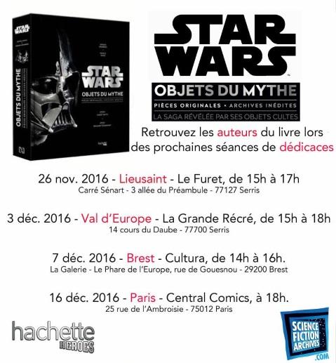 Dédicace de Star Wars Les Objets du Mythe Val d'Europe