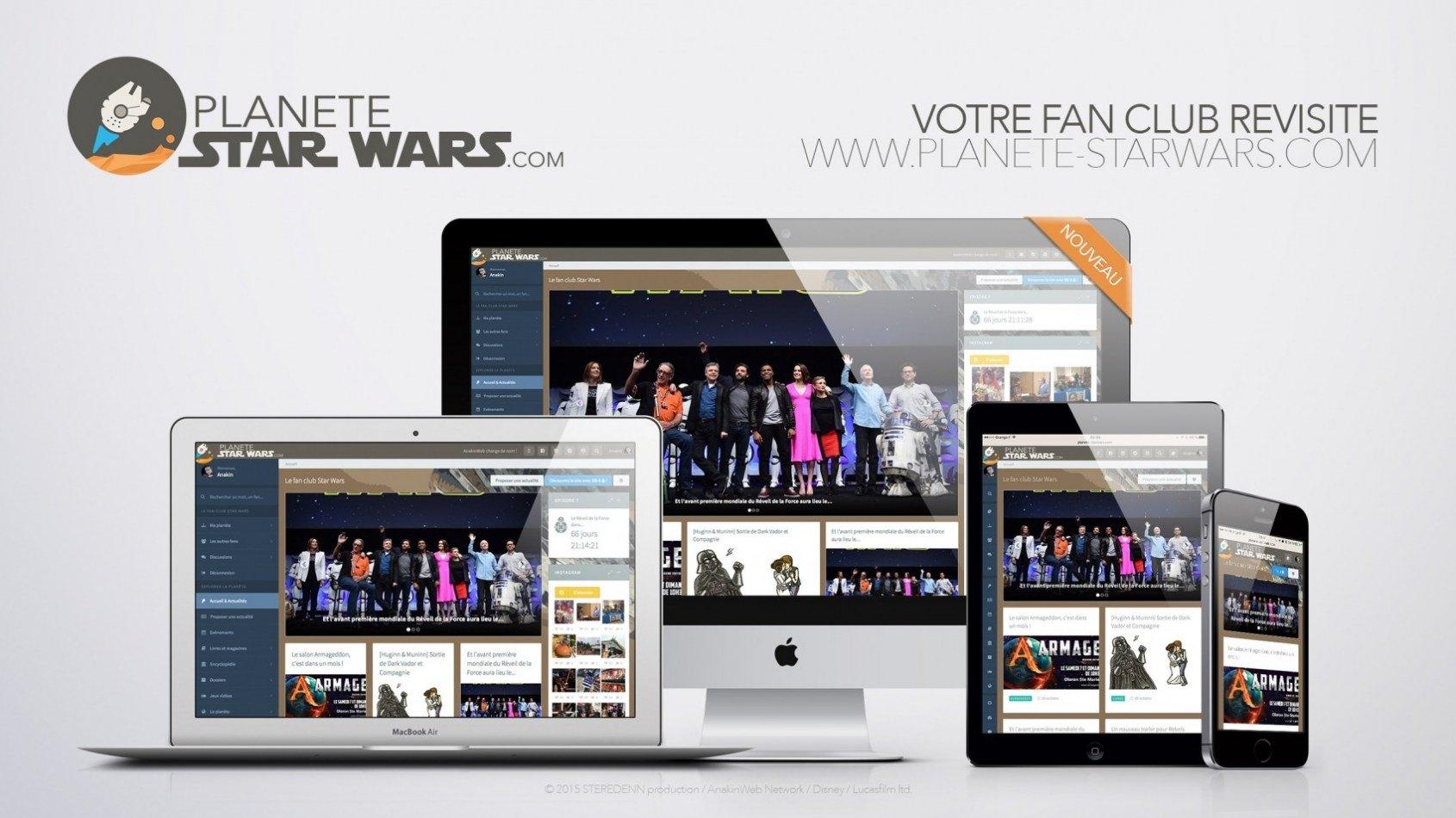 Découvrez le nouveau Planète Star Wars ! Site et applications !