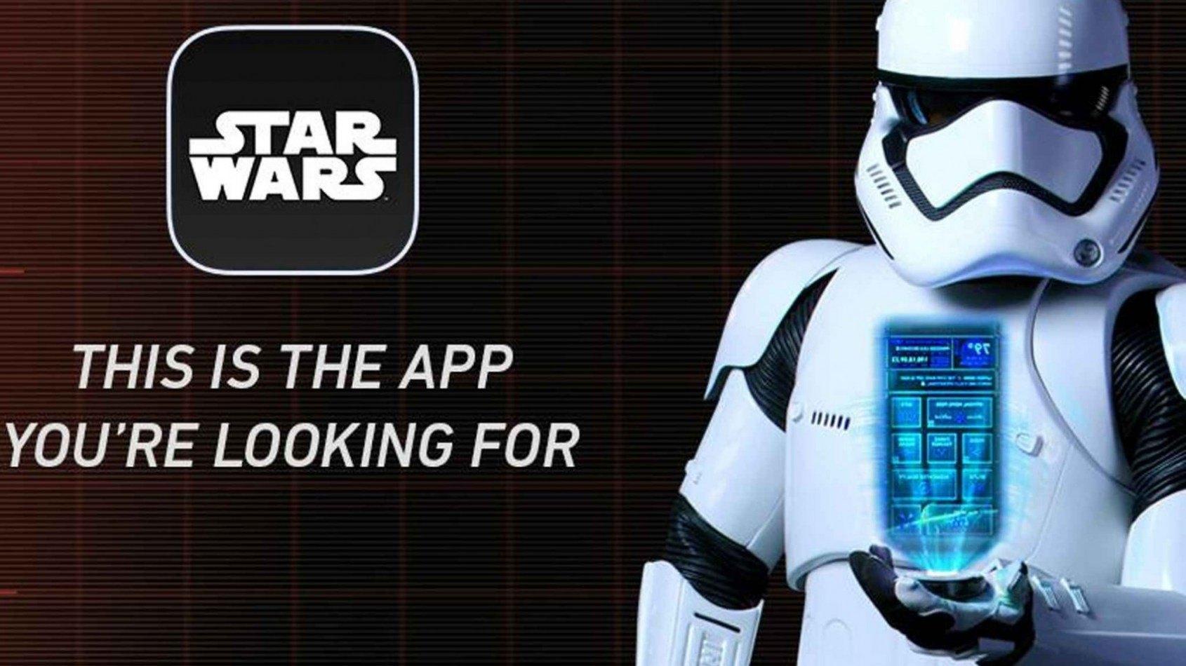 L'application officielle Star Wars est arrivée