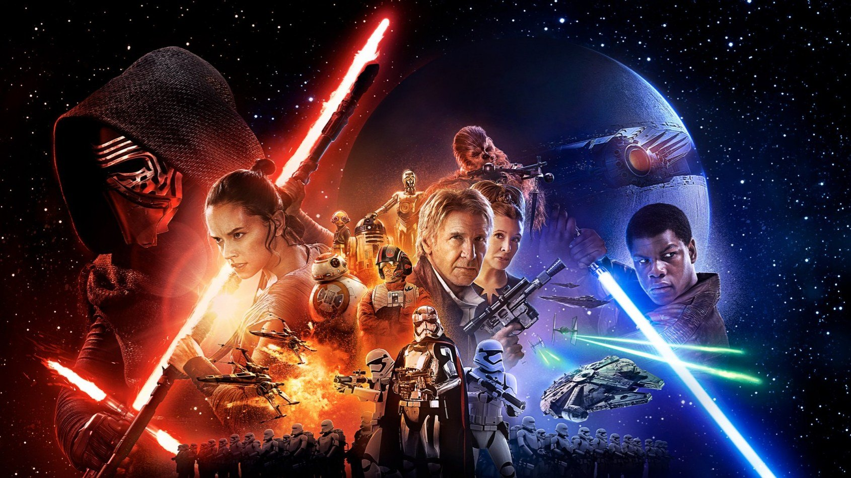 L'affiche officielle de Star Wars : Le Réveil de la Force