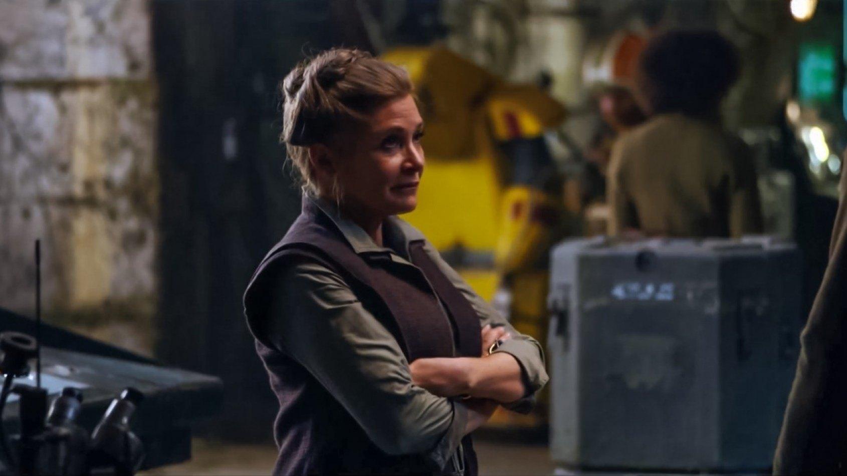 La 1�re sc�ne de Leia dans le R�veil de la Force