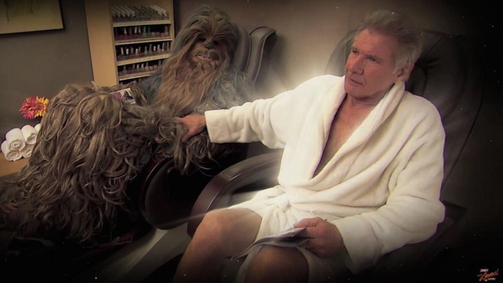 Harrison Ford et Chewbacca se réconcilient après une histoire d'adultère !
