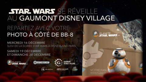 L'Episode VII au Gaumont Disney Village et photo avec BB-8 !