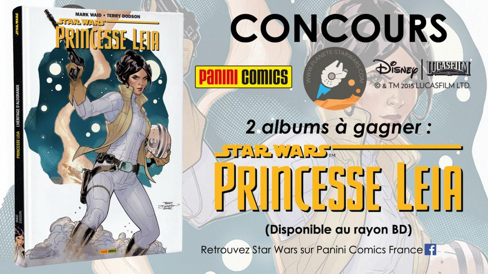 Concours : Gagnez l'album Princesse Leia de Panini