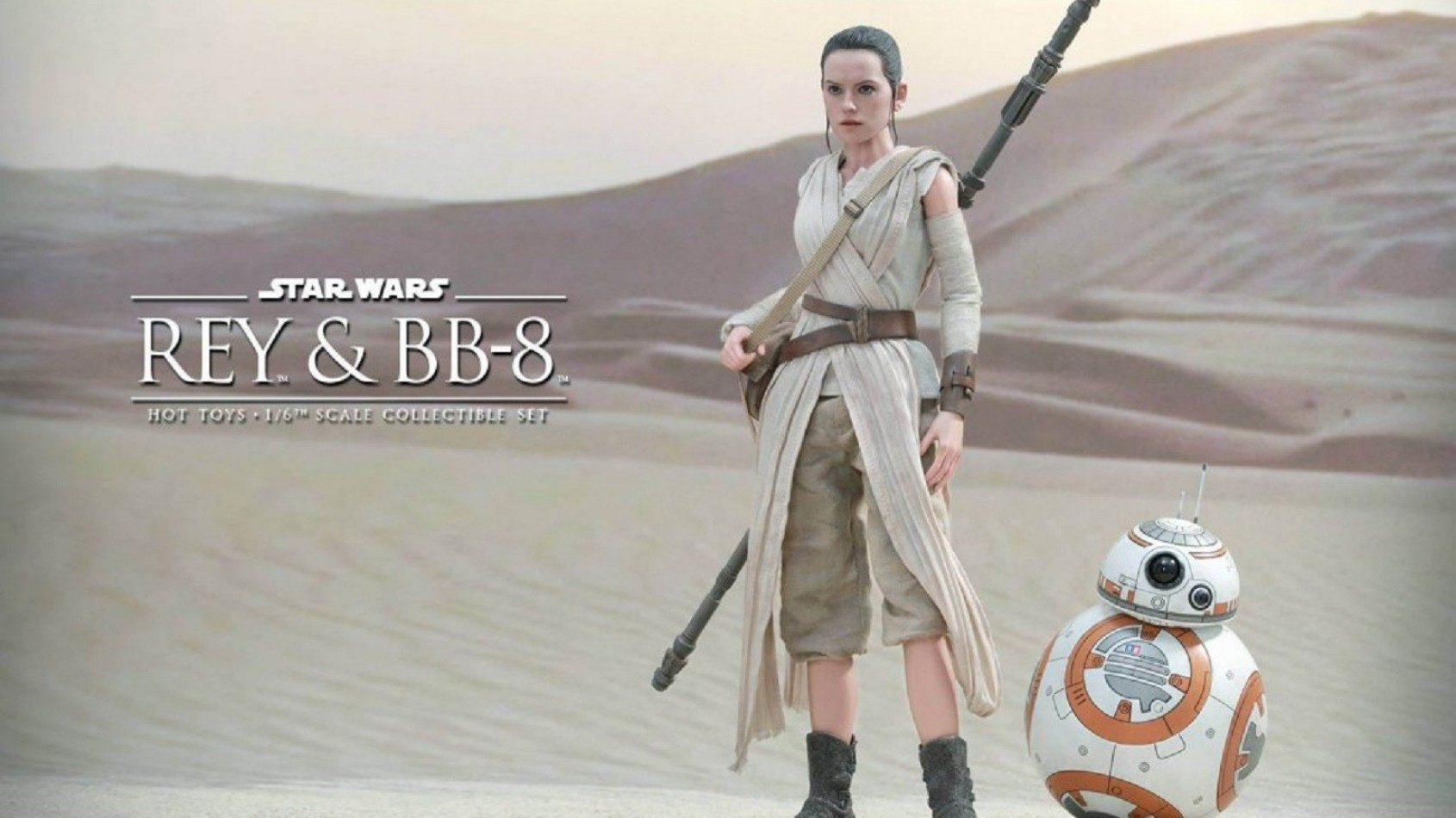[Hot Toys] The Force Awakens 6th scale Rey & BB-8 Collectible Set preview