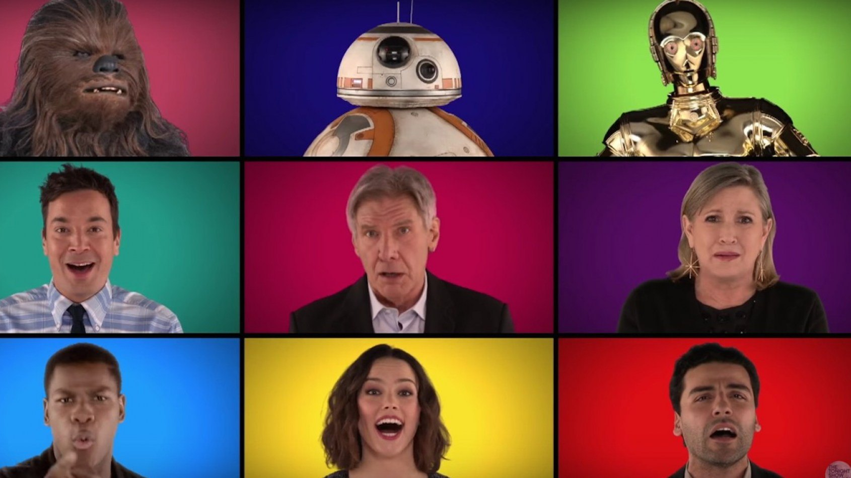 Le casting du R�veil de la Force chante Star Wars !