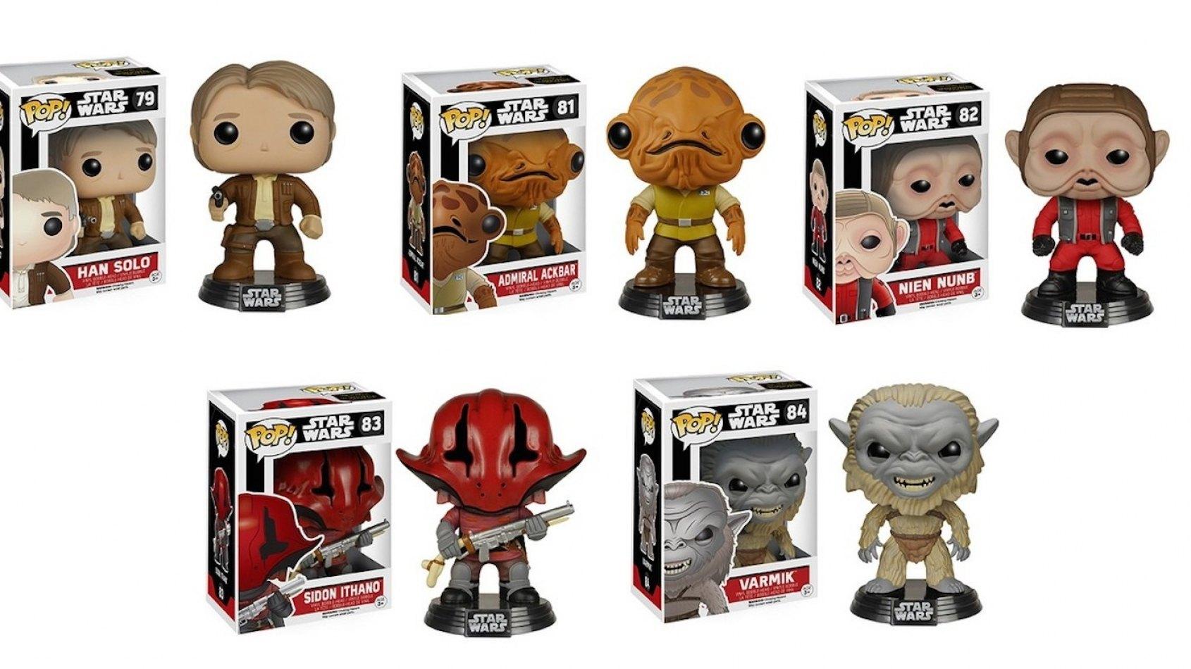 De nouvelles figurines POP du Réveil de la Force