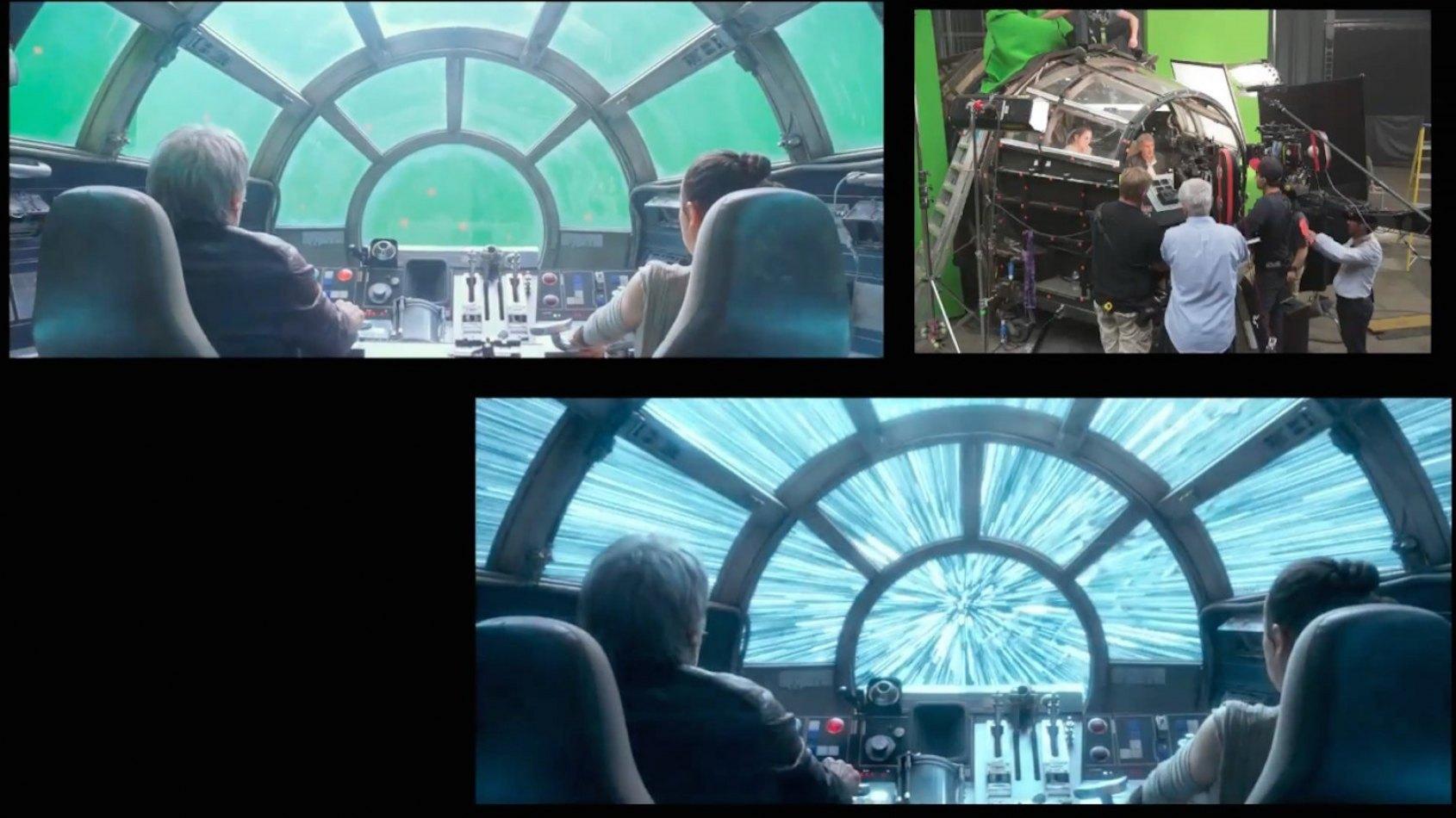 Une vidéo Avant / Après les effets spéciaux du Réveil de la Force