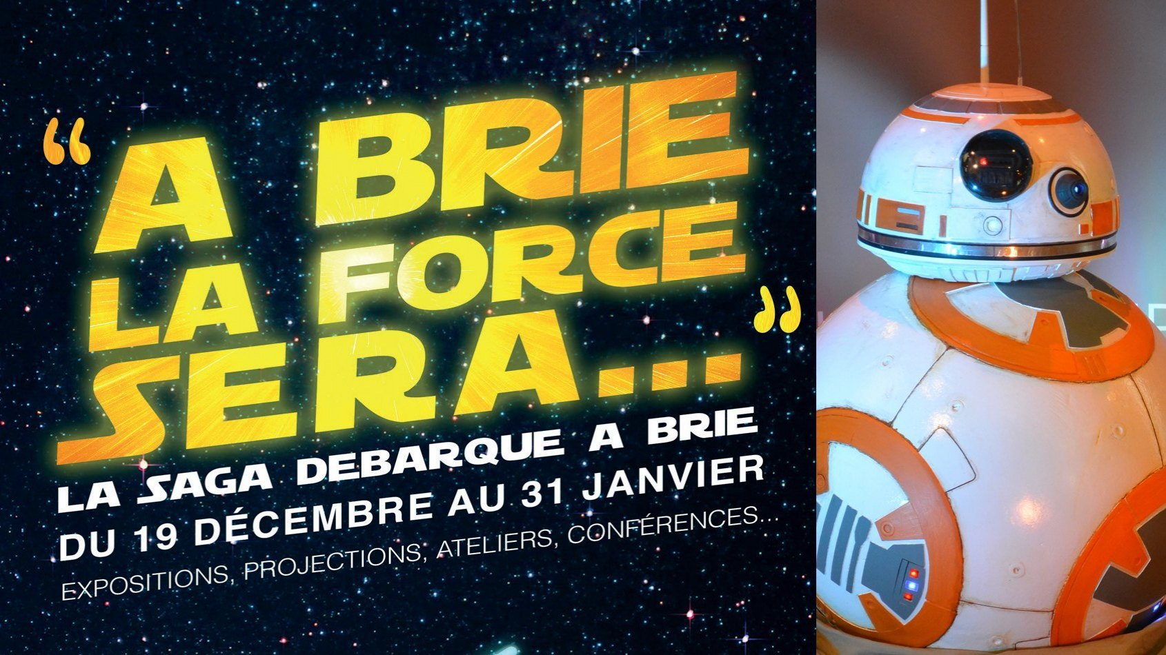 La 59ème et BB-8 seront à Brie Comte Robert samedi 30 janvier 2016 !