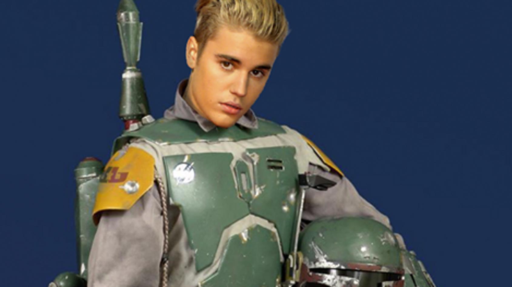 POISSON D'AVRIL Justin Bieber dans la peau de Boba Fett ?