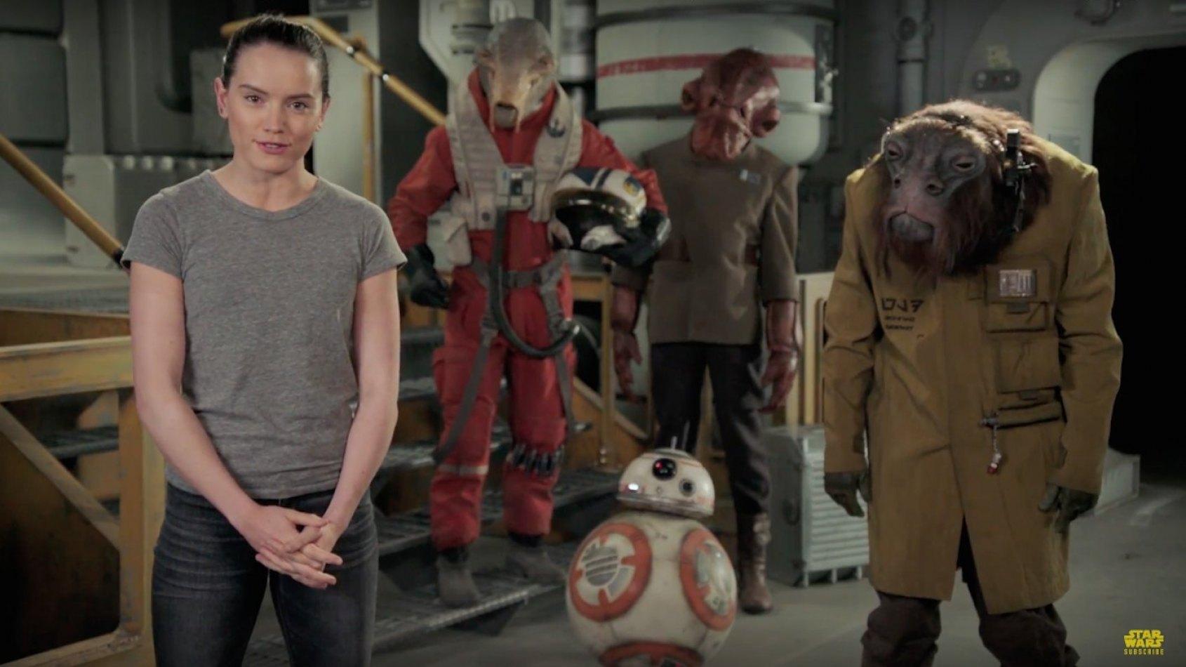 Daisy Ridley vous souhaite un joyeux Star Wars Day !