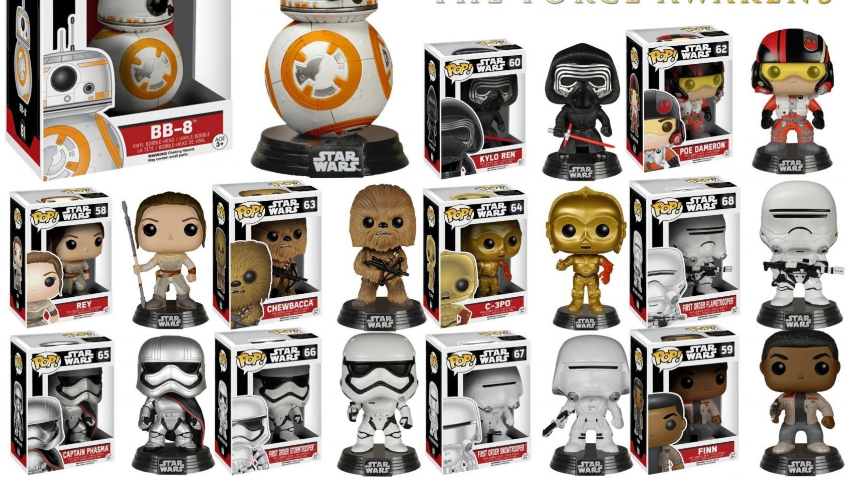 De nouvelles figurines Funko Pop ! du Réveil de la Force !