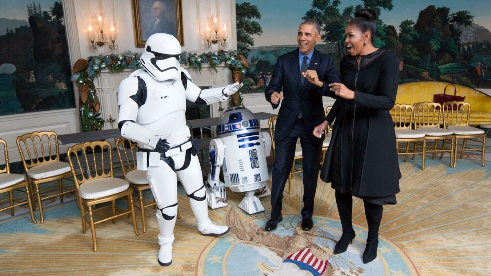 Les Obama ont aussi f�t� le May the 4th !
