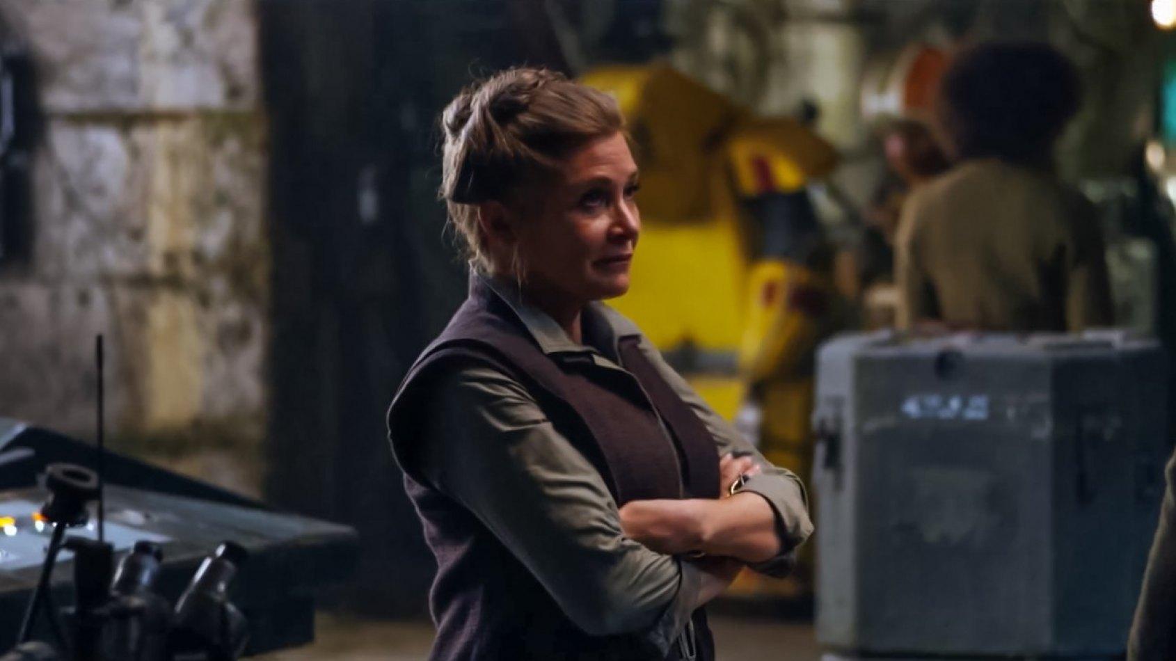 Carrie Fisher aperçue sur le tournage de l'Episode VIII