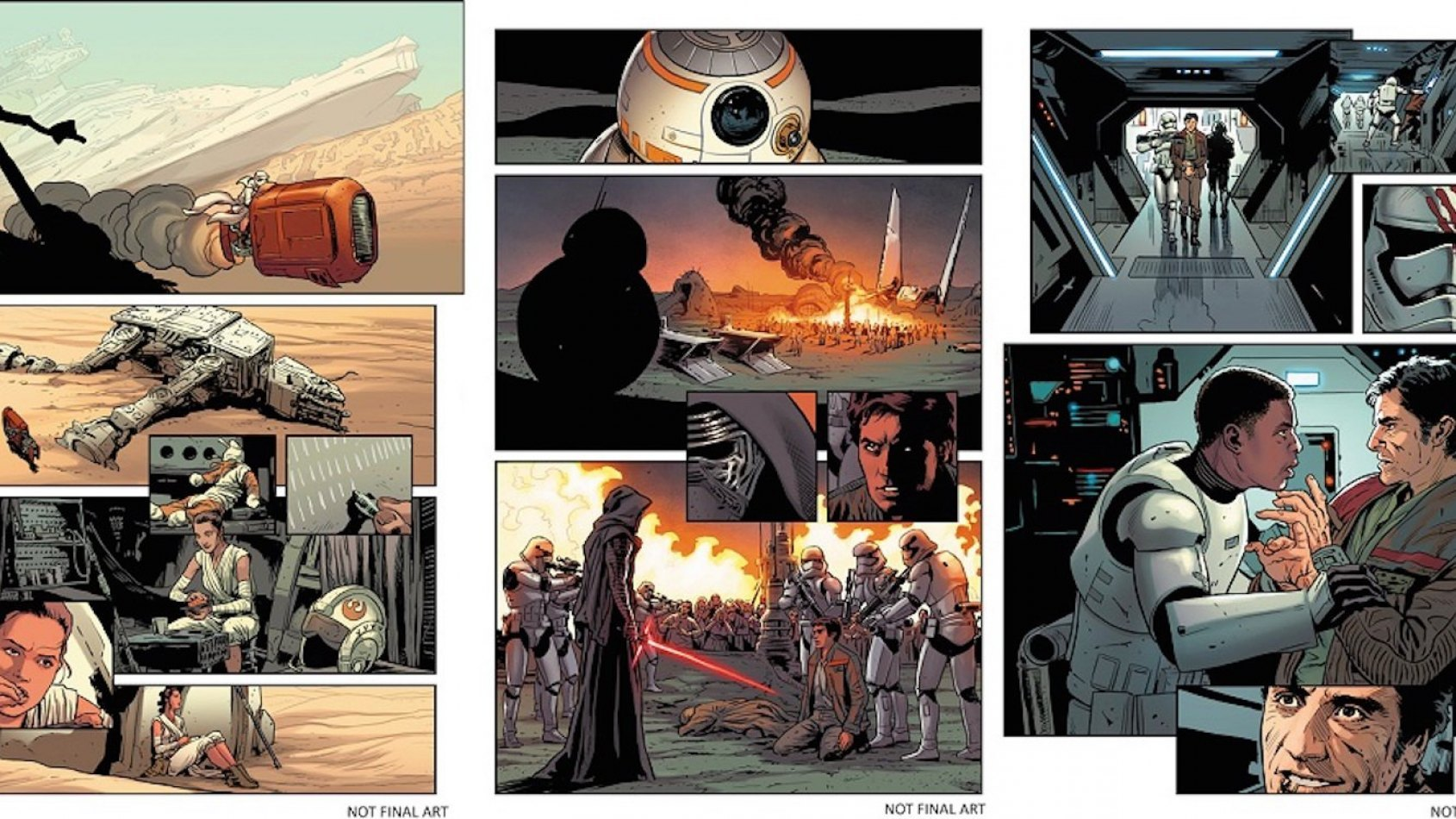Premier aper�u du comics Star Wars: Le R�veil de la Force