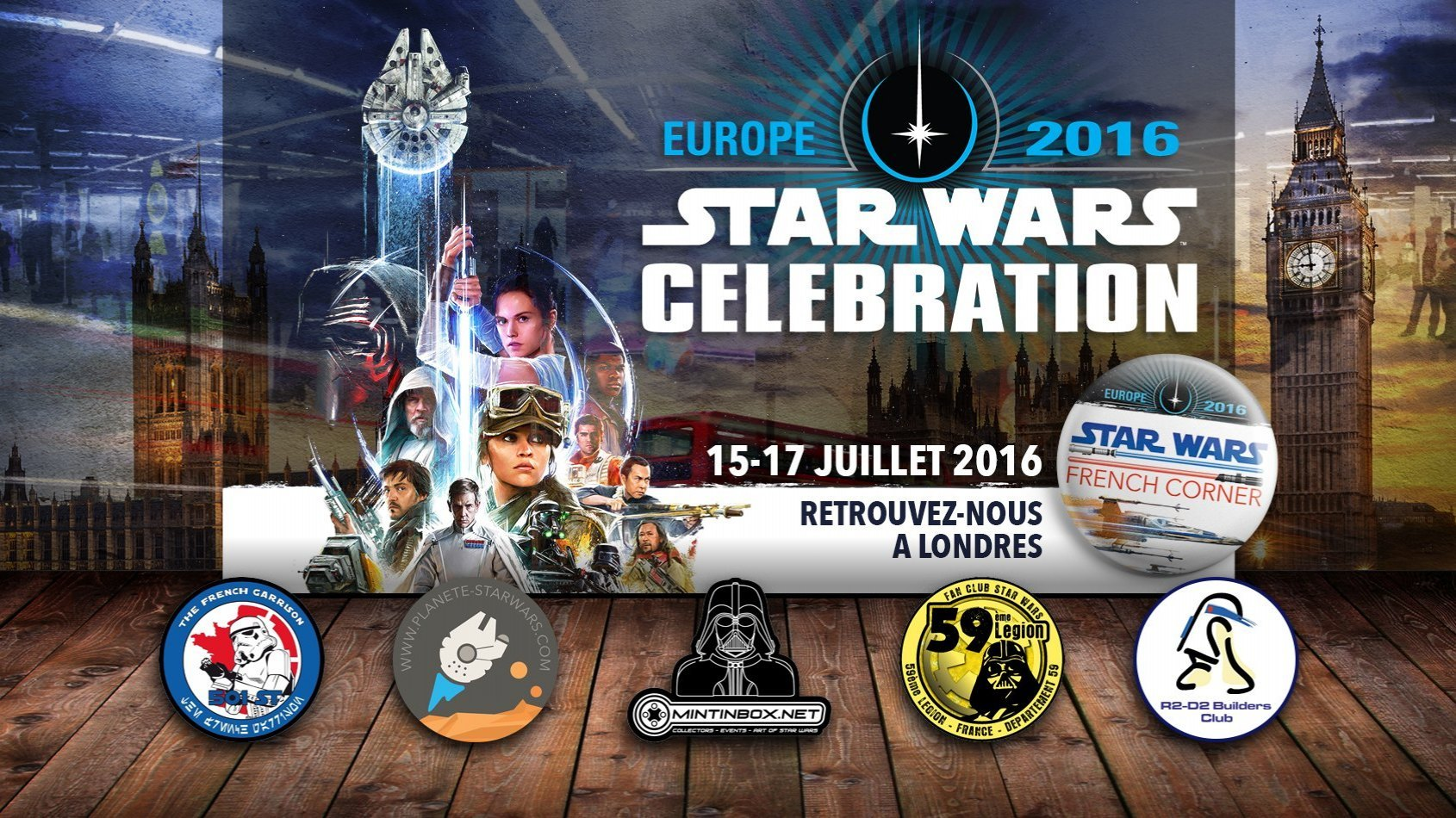 Planète Star Wars avec le Star Wars French Corner à Celebration Europe