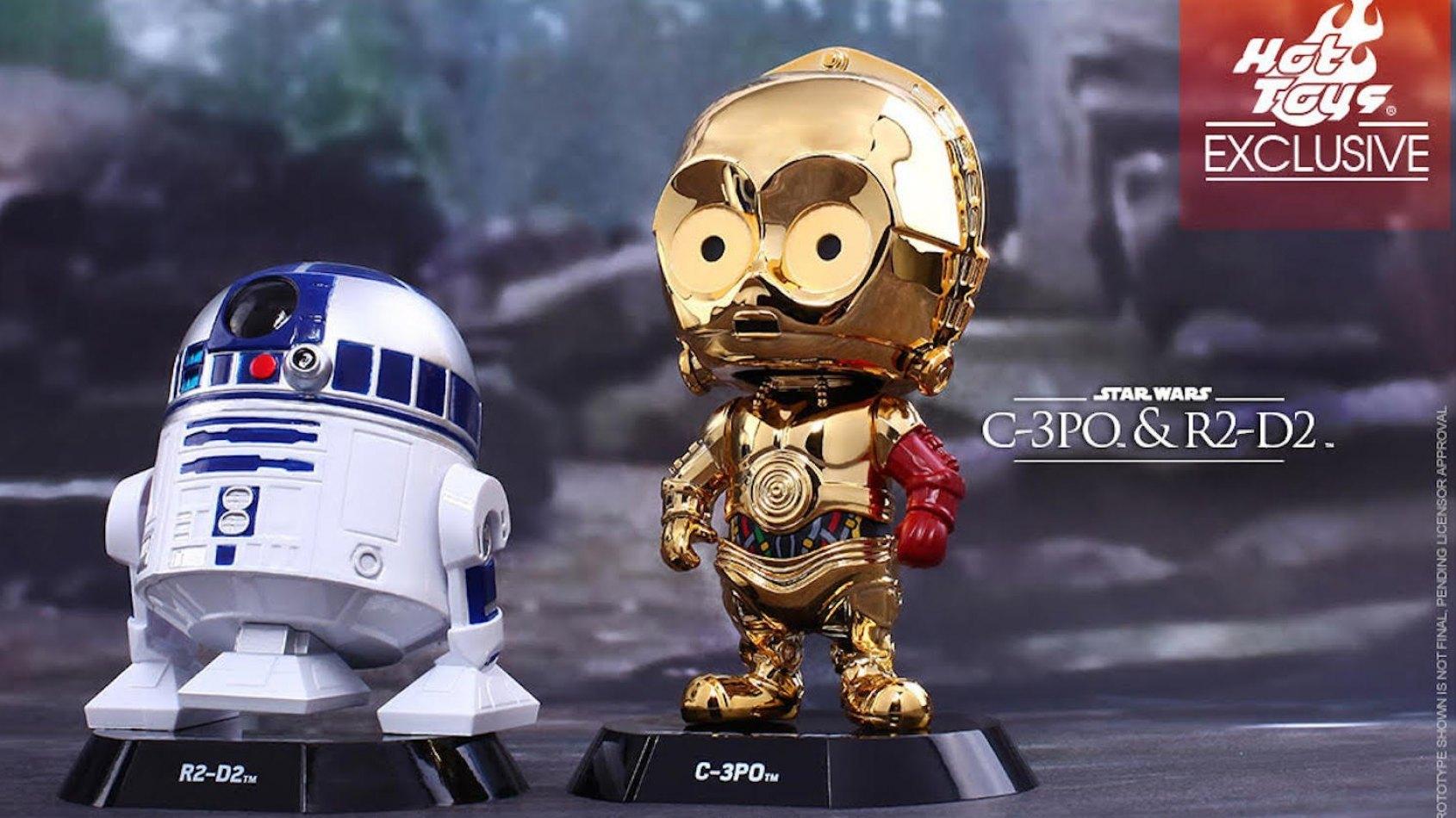 R2-D2 et C3-PO en Cosbaby Hot Toys !