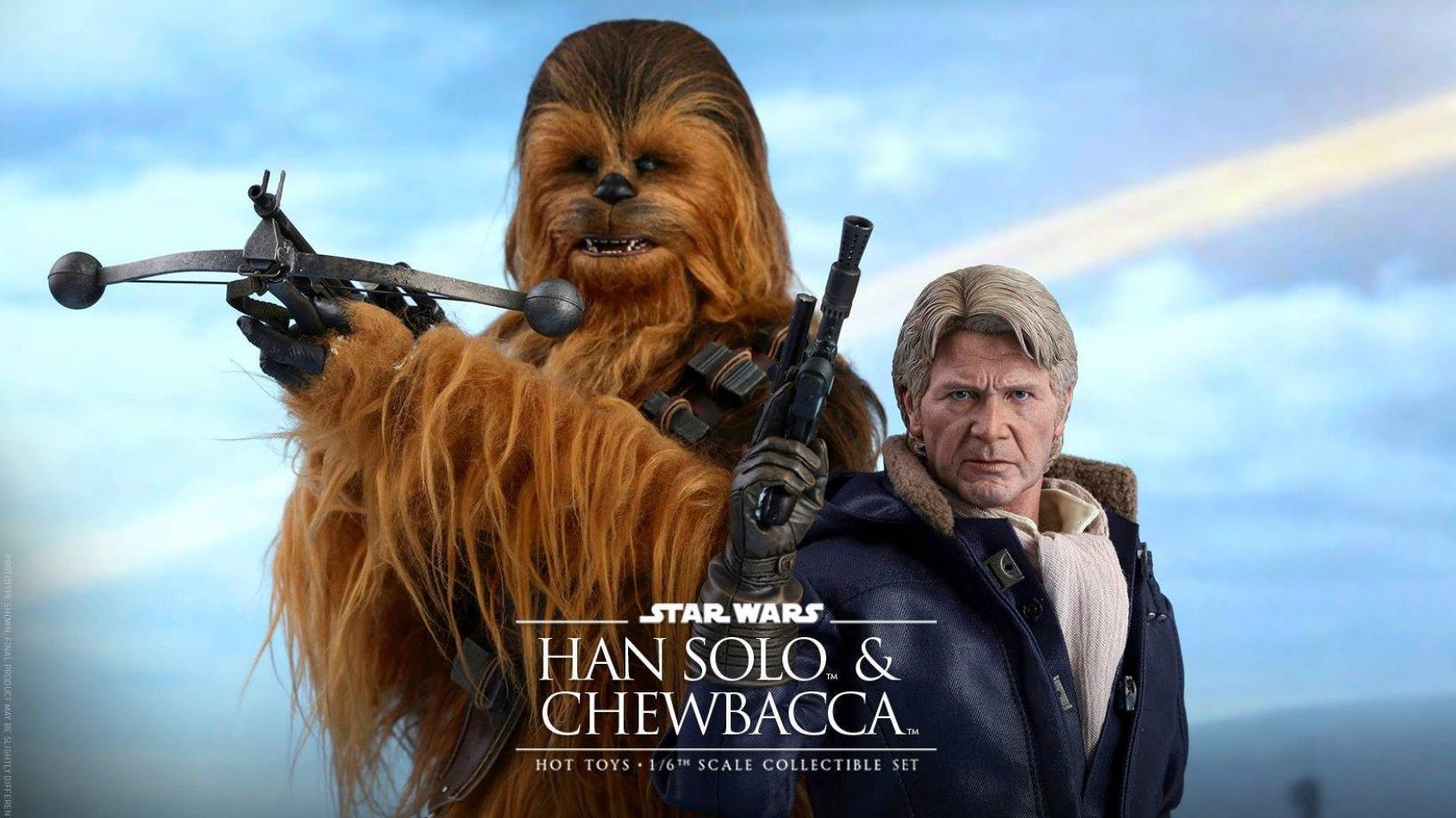 Hot Toys : Han Solo et Chewbacca version Réveil de la Force !