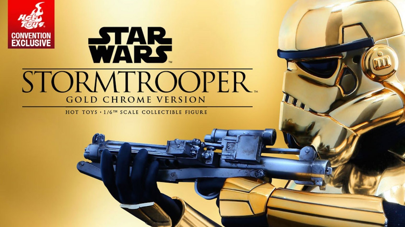 Sideshow : un stormtrooper 1/6�me version Gold