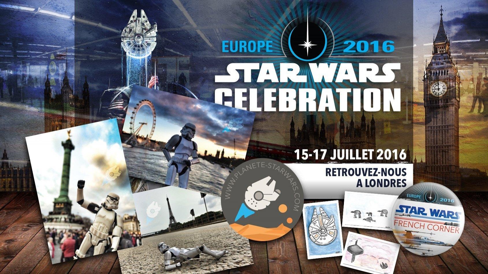 Au programme sur le stand Plan�te Star Wars � Celebration