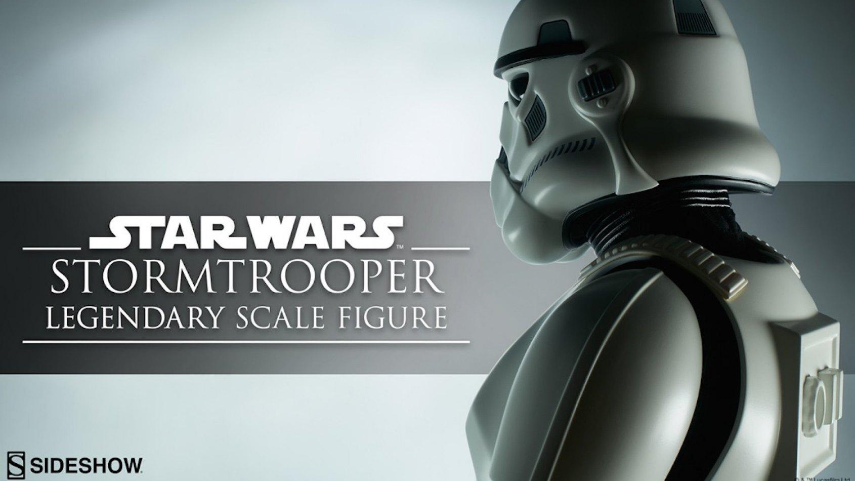 Sideshow  annonce un stormtrooper Legendary Scale Figure
