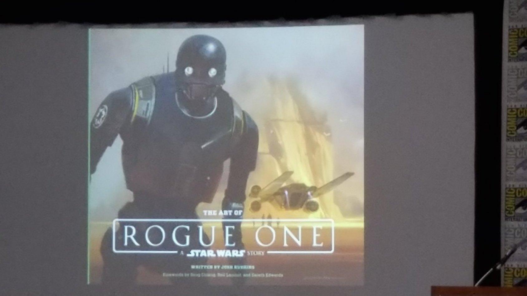 La couverture du livre The Art Of Rogue One: A Star Wars Story r�v�l�e