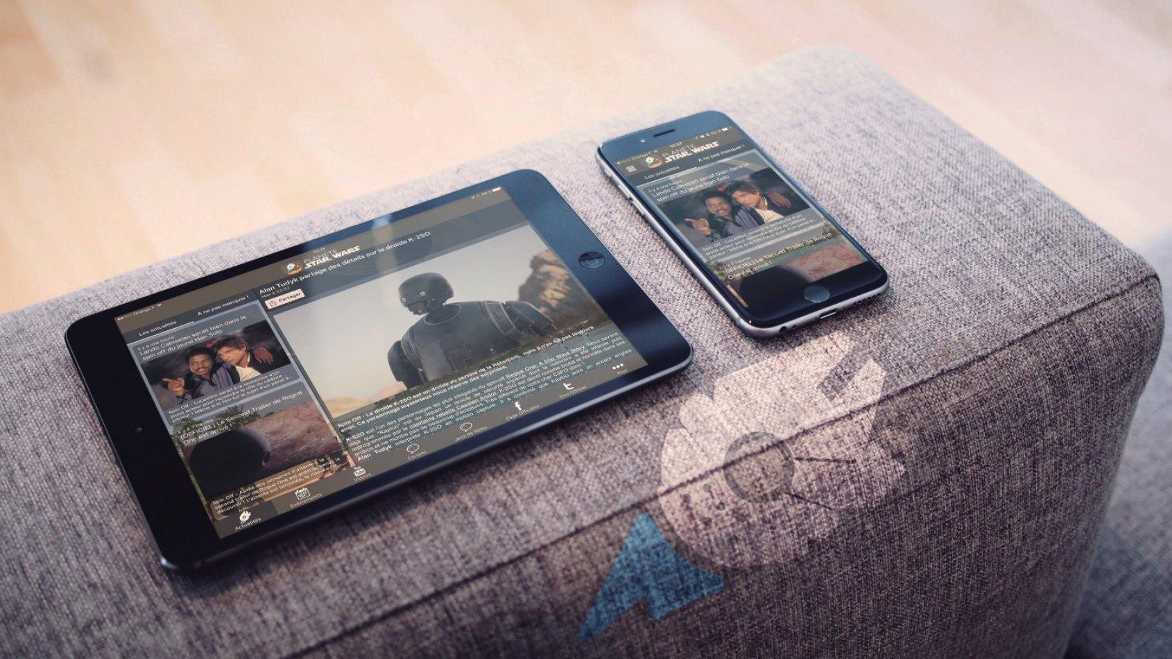 Avez-vous l'application mobile du fan club Star Wars ?