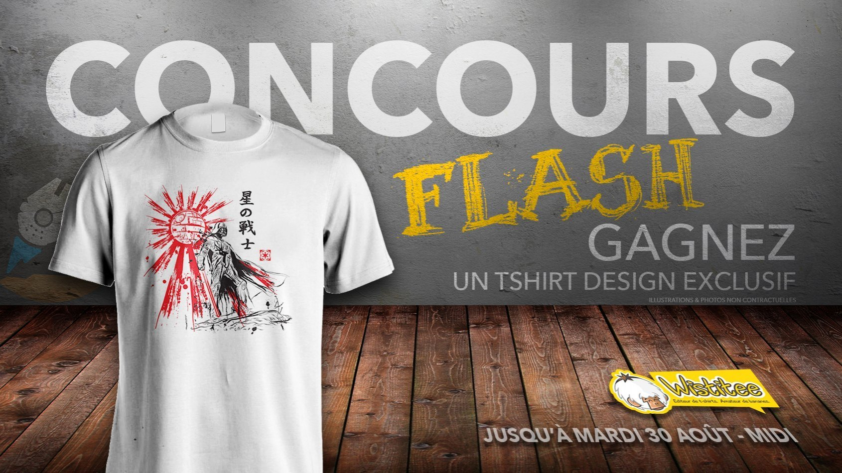 CONCOURS FLASH - Gagnez un t-shirt Vador exclusif avec Wistitee