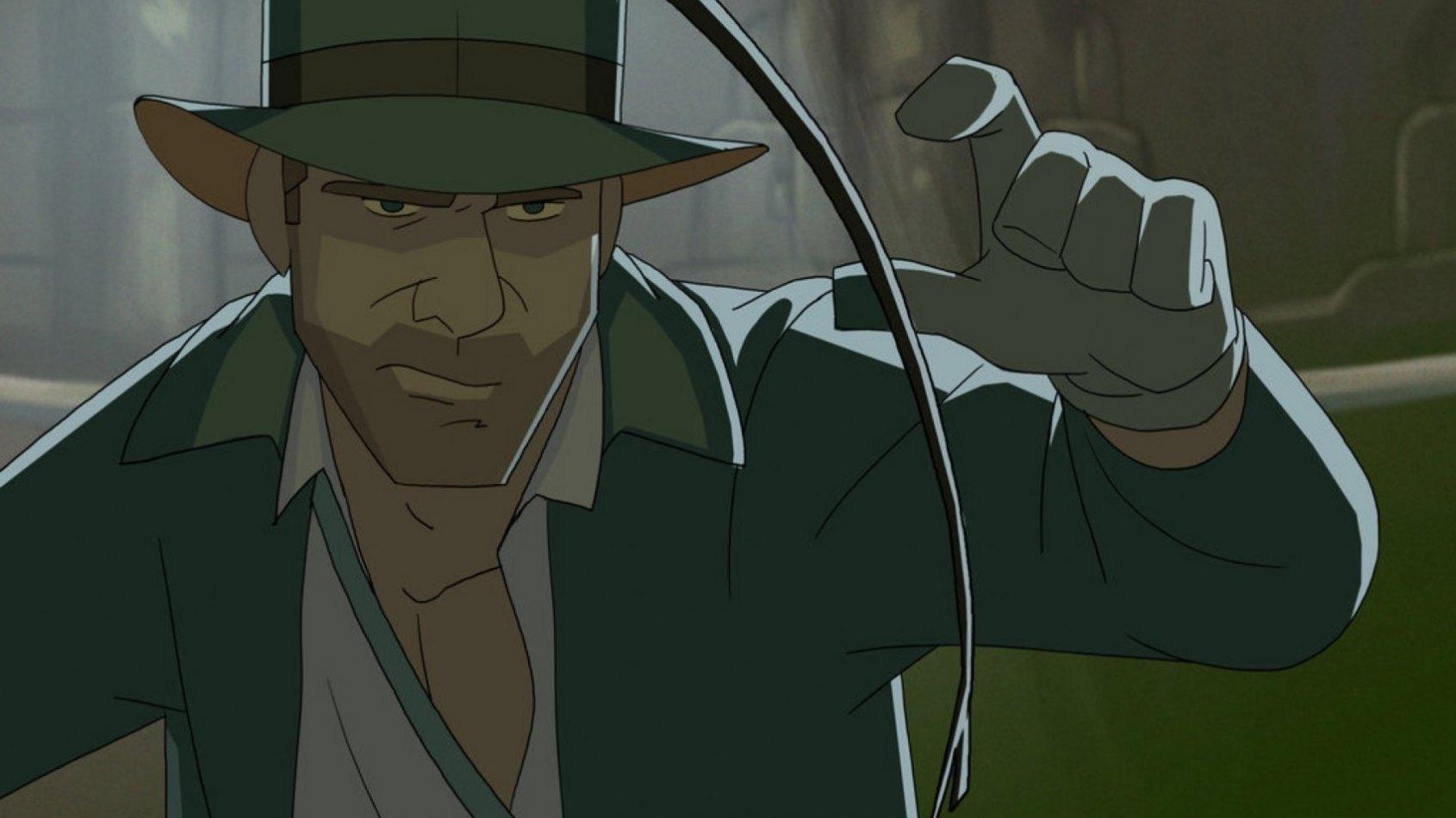 Des images du film d'animation Indiana Jones