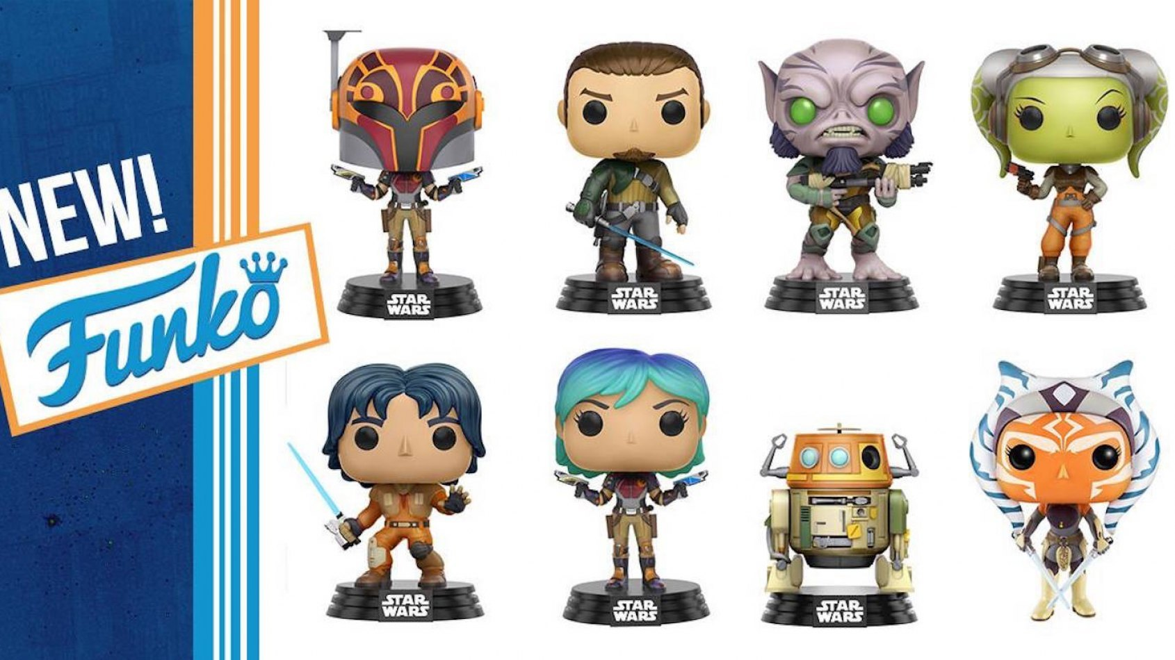 Arrivée massive de figurines Pop Star Wars Rebels