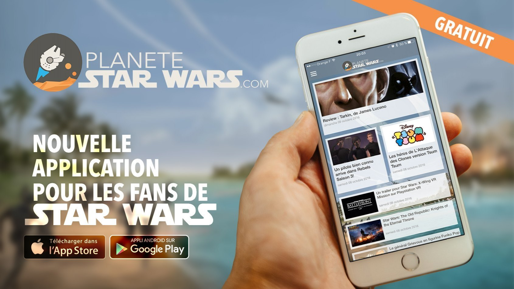 Nouvelle application mobile du fan club Star Wars