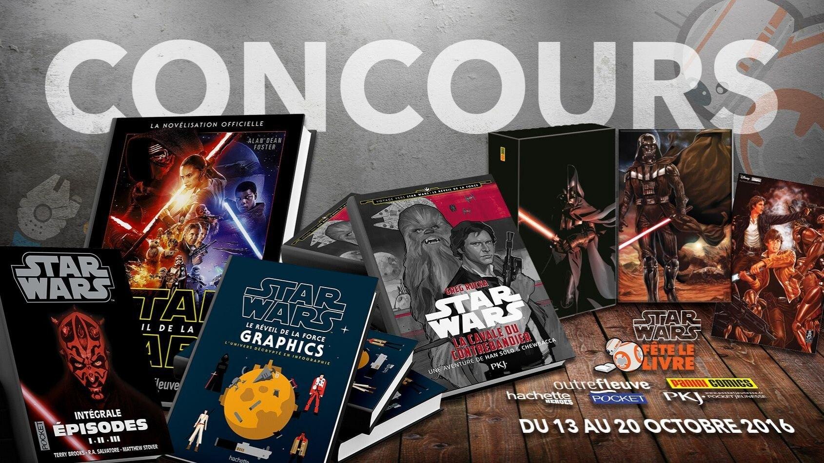 Concours : Gagnez 5 livres � l'occasion de Star Wars F�te le Livre