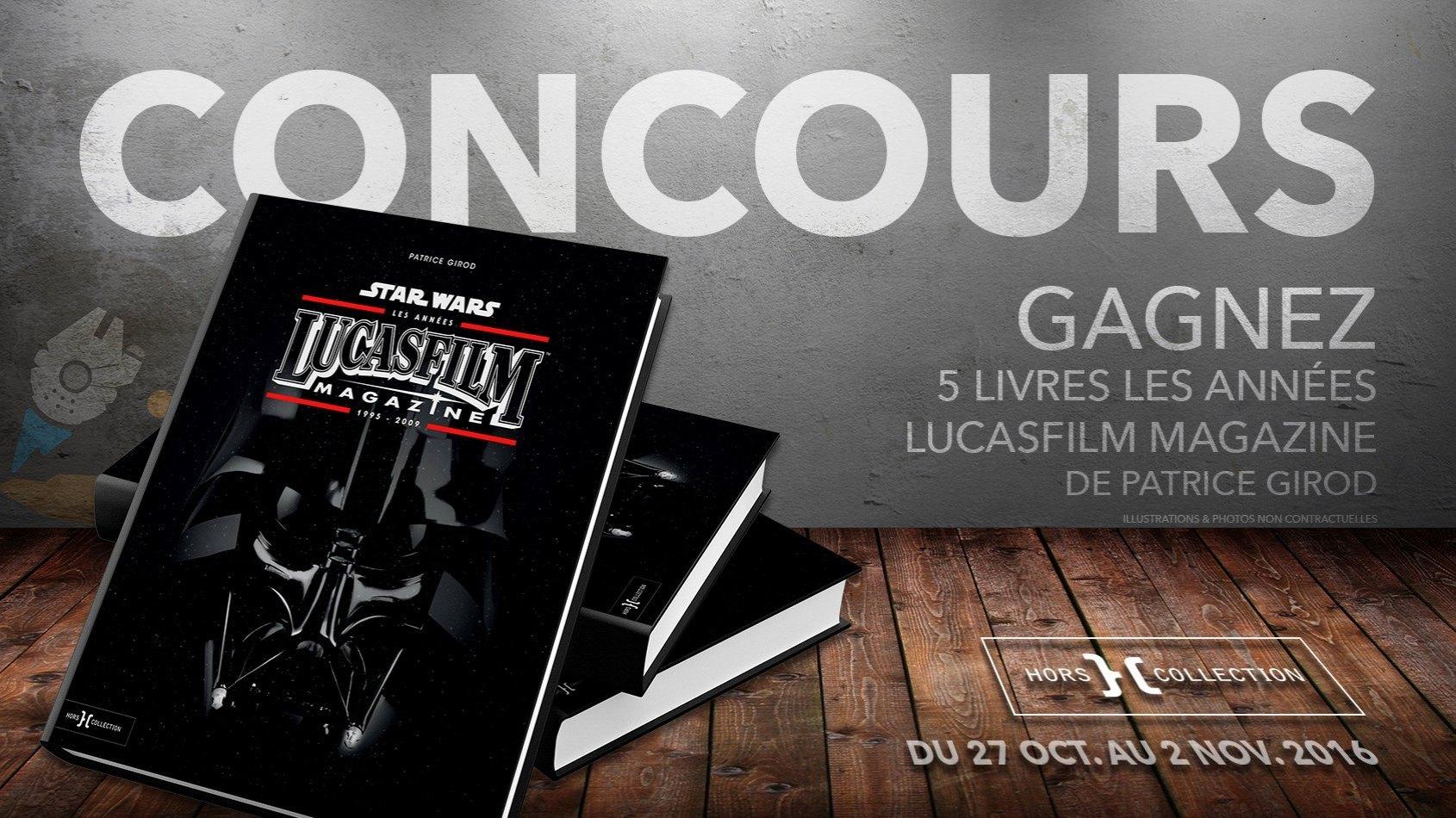 Concours : Gagnez 5 livres Les ann�es Lucasfilm Magazine