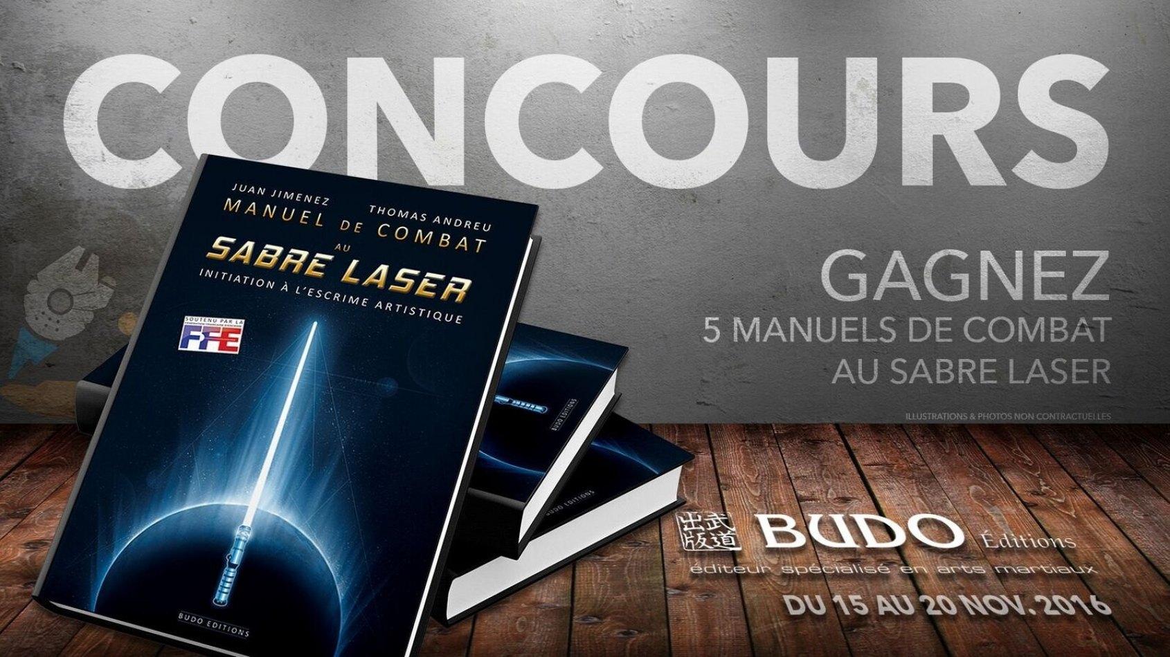 Concours : Gagnez 5 Manuels de Combat au Sabre Laser