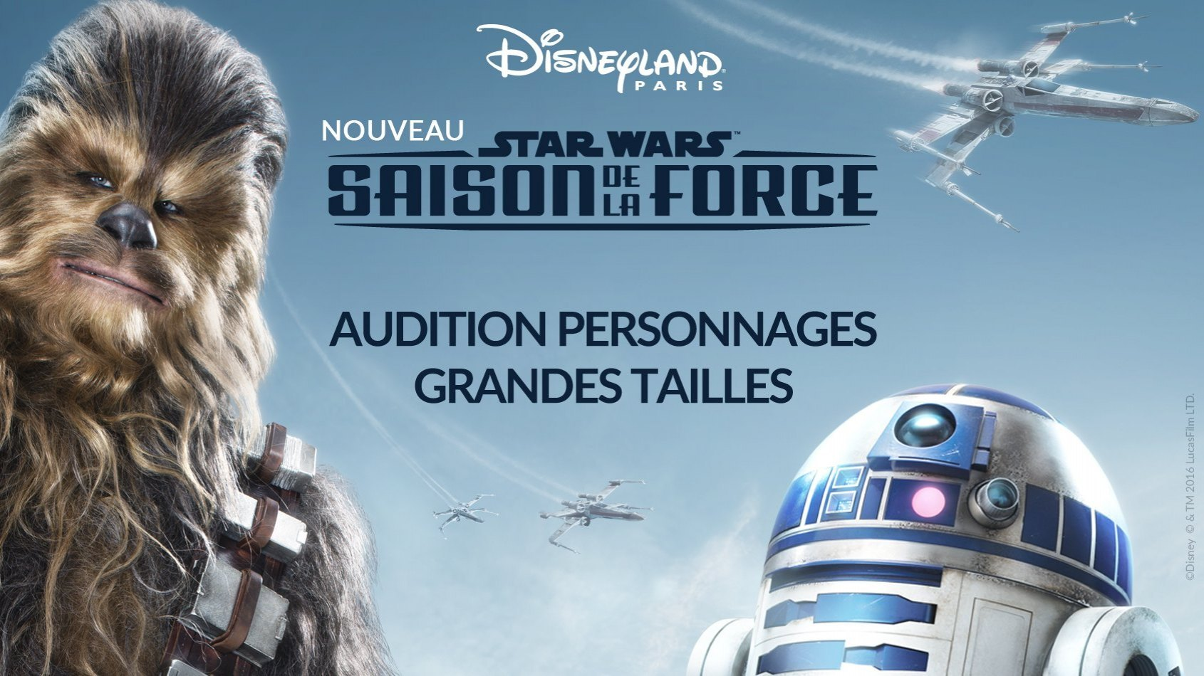 Audition pour interpréter des personnages Star Wars à Disneyland Paris