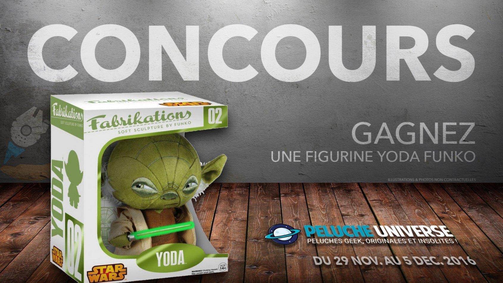 CONCOURS - Gagnez une figurine Yoda Funko avec Peluche Universe