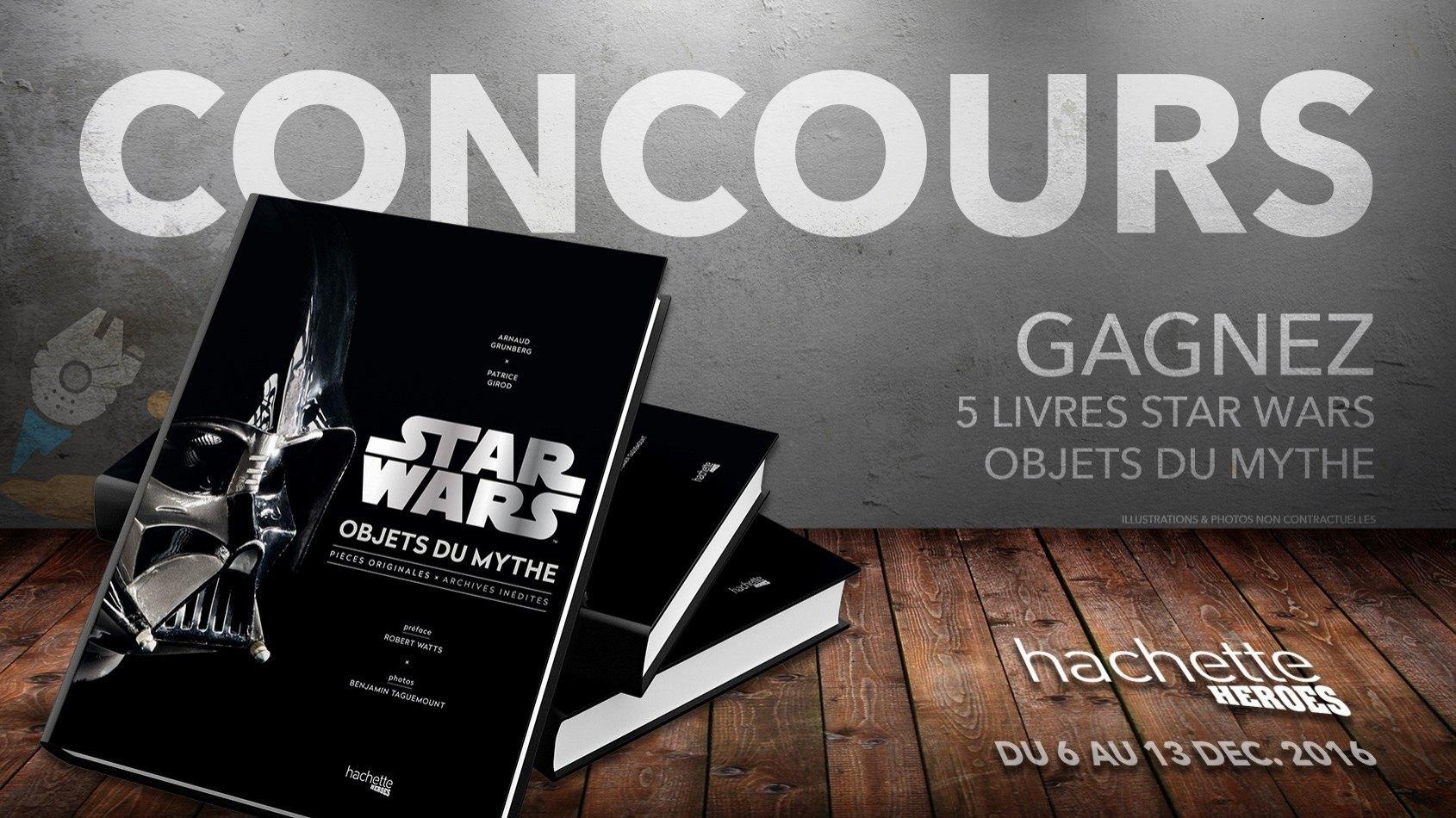 Concours : Gagnez 5 livres Star Wars Objets du Mythe