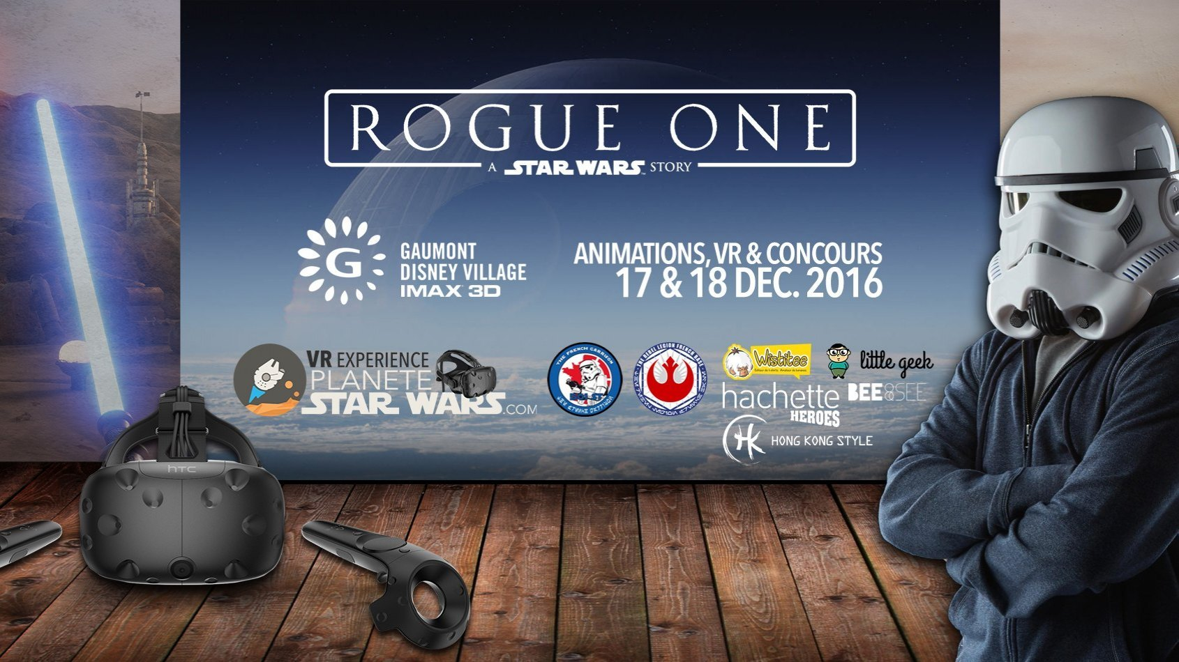 Rogue One : animations, VR & concours au Gaumont Disney Village