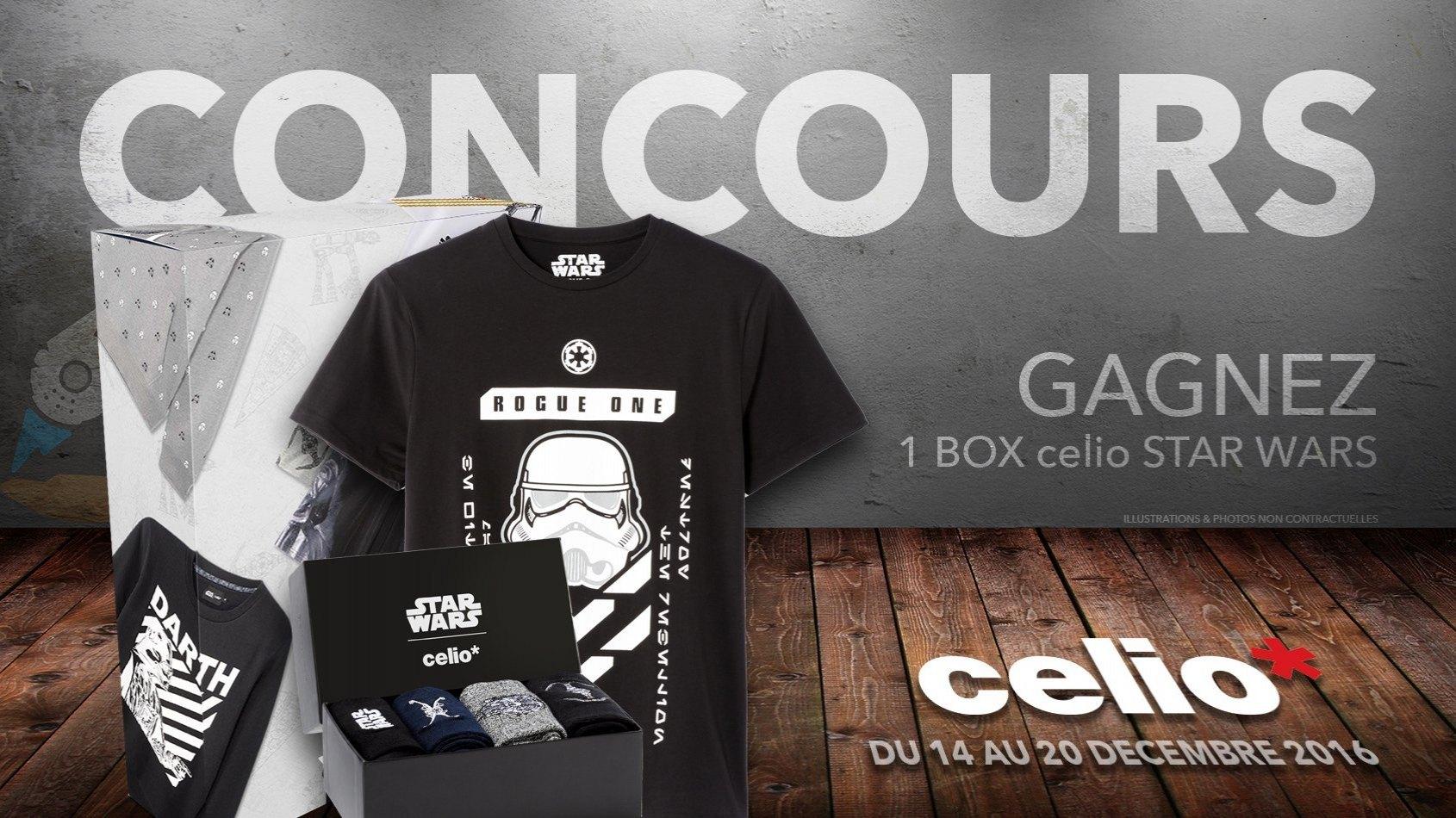 CONCOURS - Gagnez une box celio Star Wars
