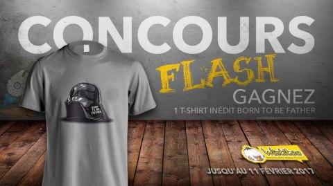 CONCOURS FLASH - Gagnez un t-shirt Born To Be Father avec Wistitee