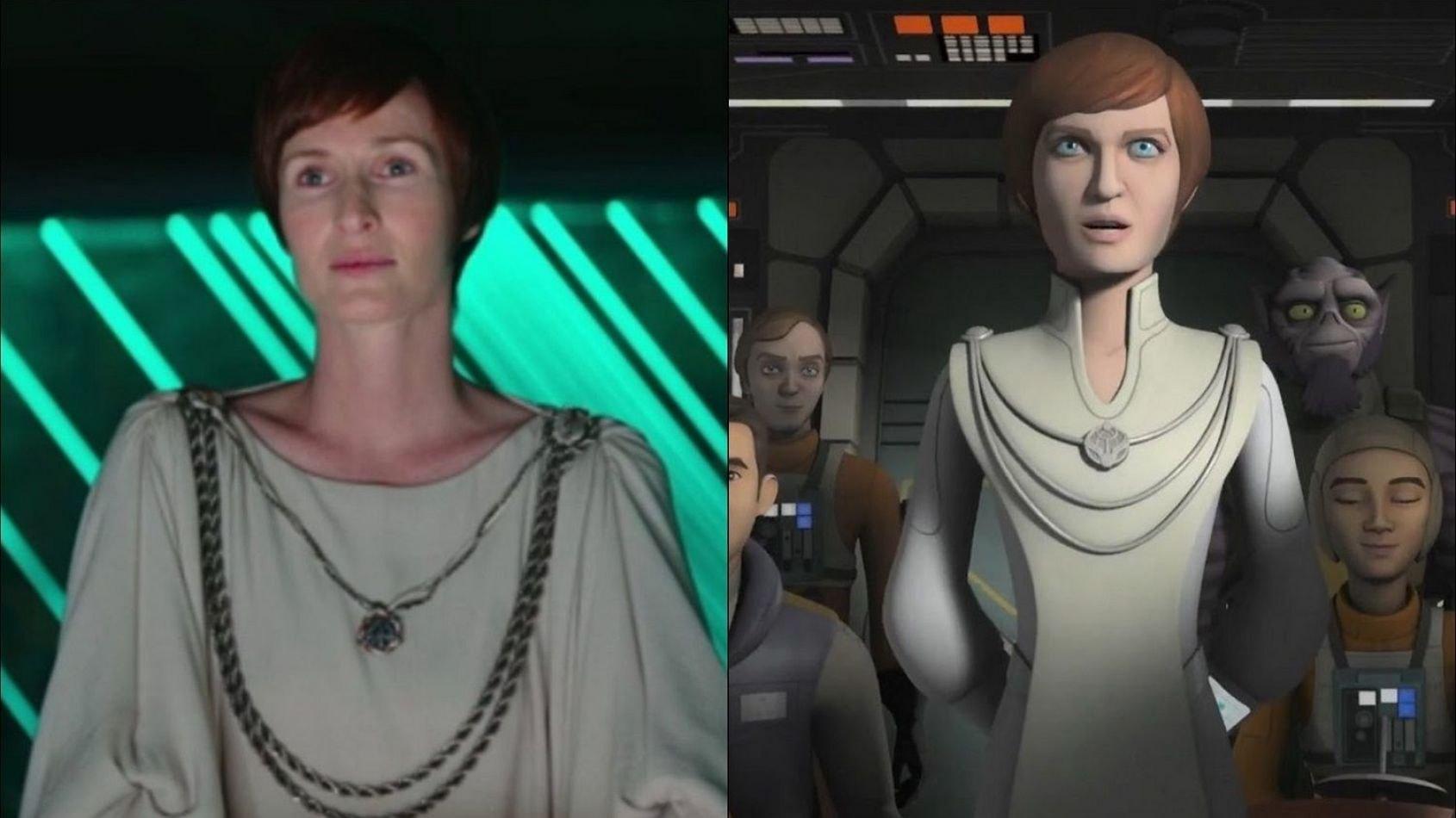Genevieve O'Reilly interprète Mon Mothma dans Rebels