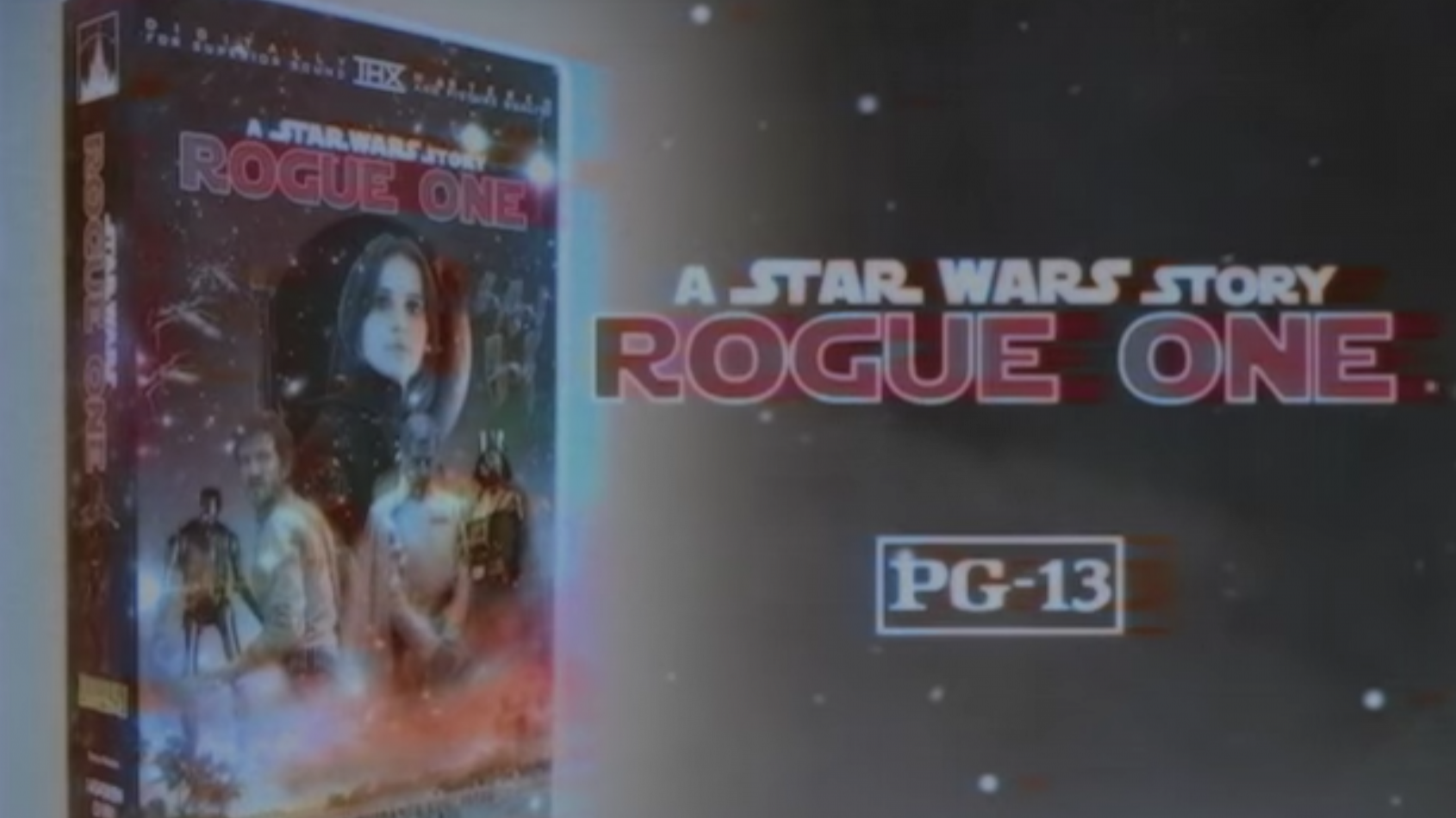 Une publicité pour la sortie de Rogue One en VHS