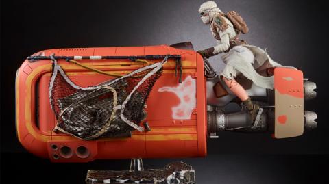 Une Black Series pour Rey avec son Speeder