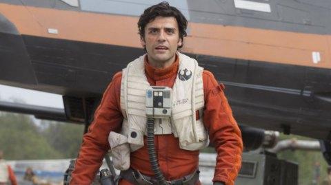 Les Derniers Jedi: Oscar Isaac  dans une scène avec Carrie Fisher