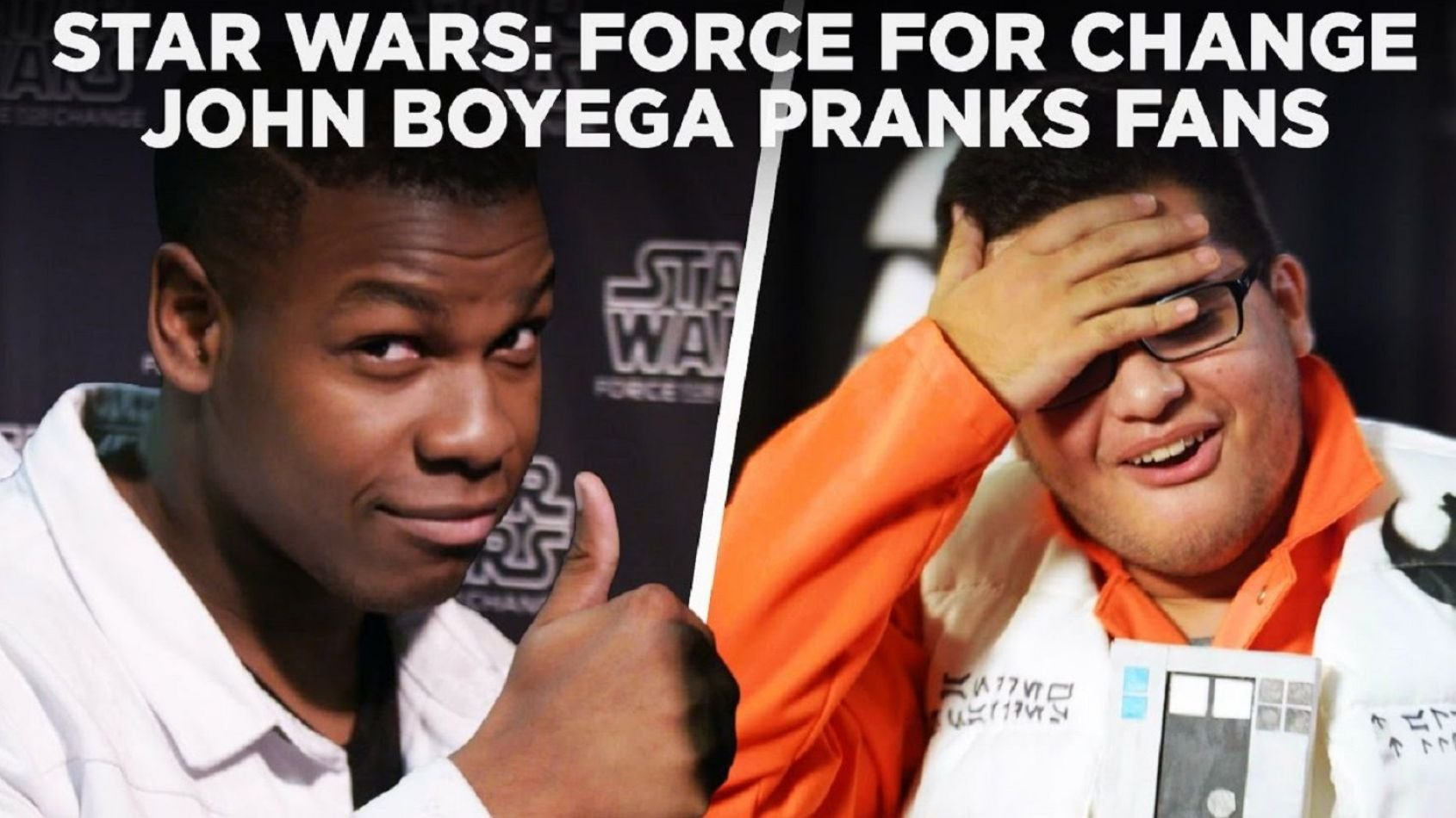 Celebration:surprise de John Boyega aux fans pour Force for Change