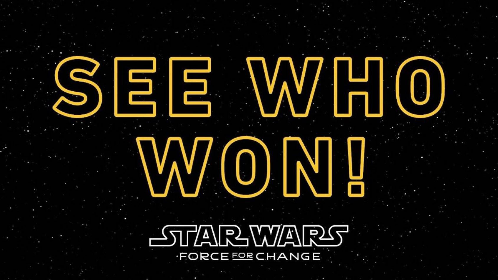 Qui a gagné le grand concours 'Force for Change' ?