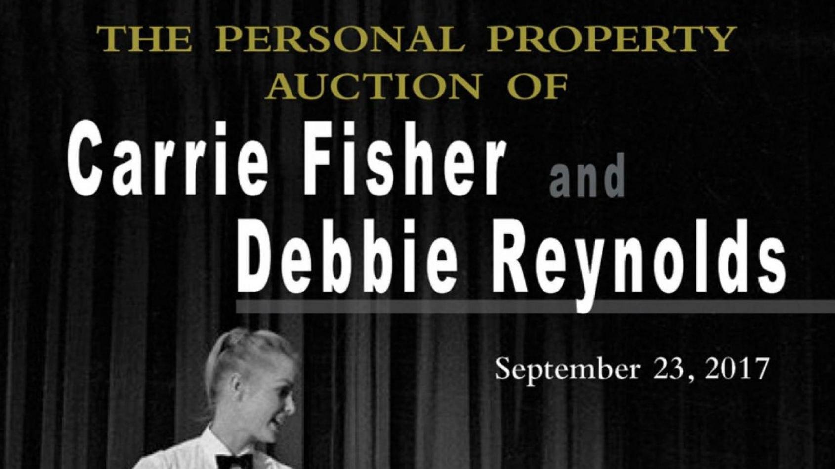 Vente aux enchères des biens de Carrie Fisher et Debbie Reynolds