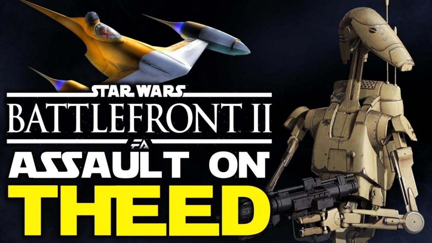 Gameplay commenté sur le mode Assaut sur Theed de Battlefront II !