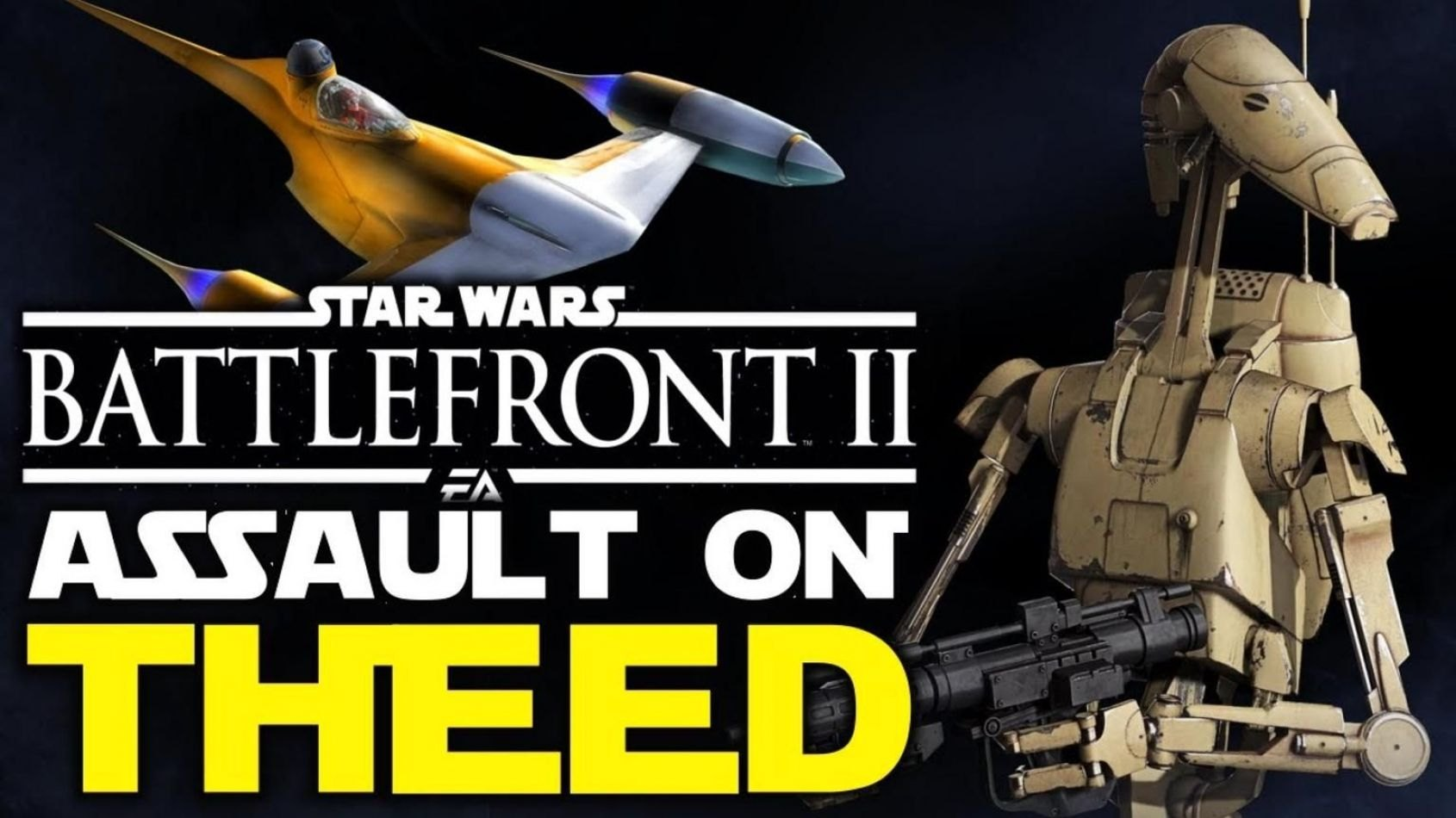 Gameplay commenté sur le mode Assaut sur Theed de Battlefront II !