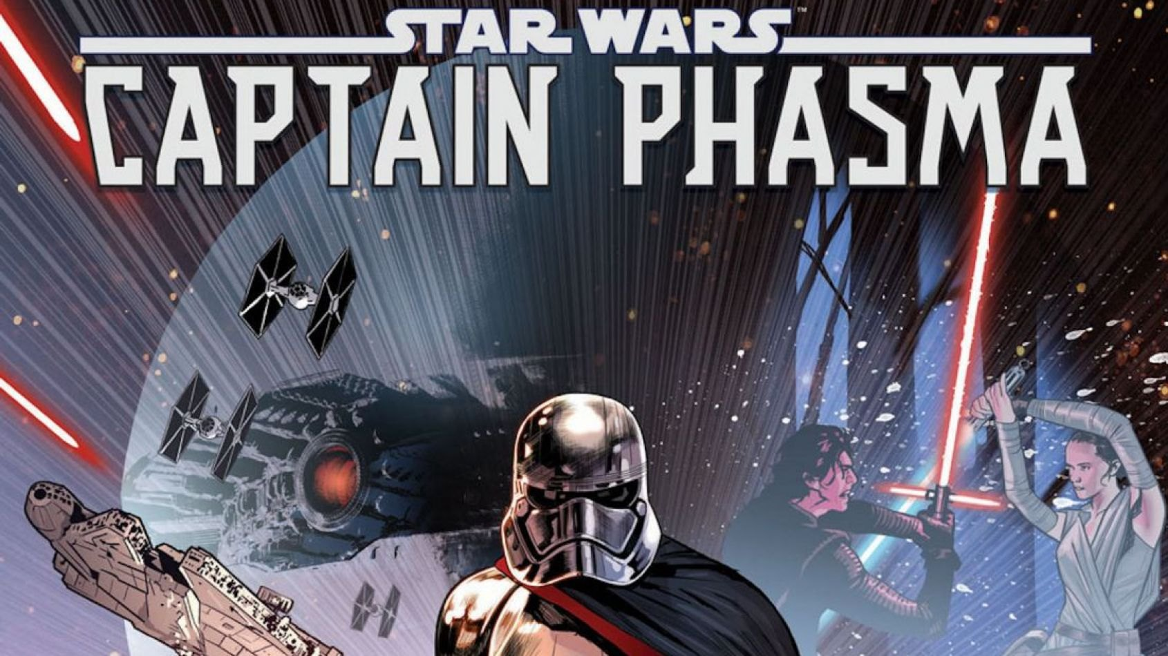 Images du Comics Marvel sur  la Capitaine Phasma